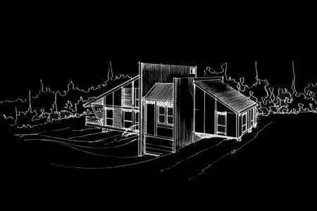 maison o la quinte bertrand architecte cabinet d. Black Bedroom Furniture Sets. Home Design Ideas