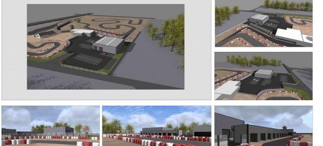 Création atelier et boxes. RKM : Le Racing Kart du Mans